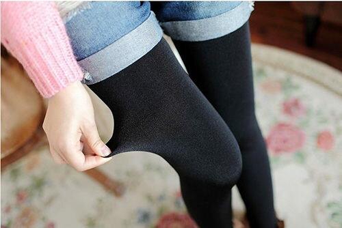 內搭褲 珍珠絨 加厚九分 打底褲 考拉絨無縫 保暖 加絨靴褲子~B7033~