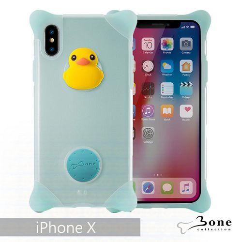 BoneiPhoneX泡泡保護套藍-鴨子手機殼