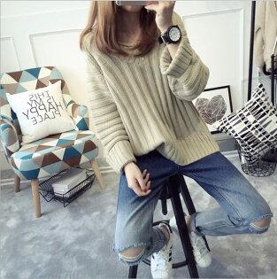 ego:韓版毛衣外套針織衫女版寬鬆套頭針織毛衣