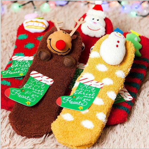 聖誕襪 聖誕 毛襪 卡通 防滑 保暖襪 聖誕節  毛巾襪 厚襪子 珊瑚絨 加厚 大人款