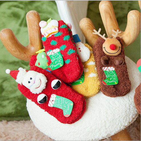 聖誕節 嚴選熱銷 毛襪 聖誕禮物 聖誕襪 毛巾襪 厚襪子 珊瑚絨 加厚款 兒童款 館長推薦 交換禮物