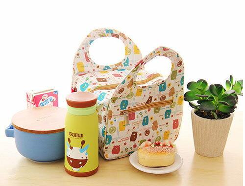 ego:可愛便當袋便攜手提袋學生飯盒便當袋保暖袋