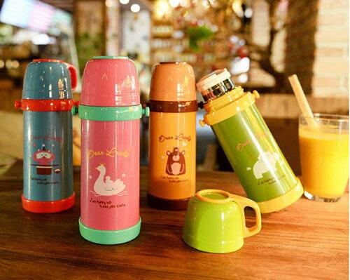 ego:兒童保溫杯不銹鋼保溫杯雙層保溫杯便攜保溫杯冬季保溫杯400ML