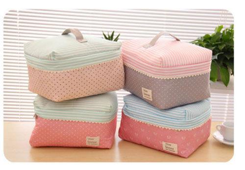 ego:韓國大容量收納包洗漱包收納袋收納箱甜美可愛內衣衣物收納化妝包化妝箱