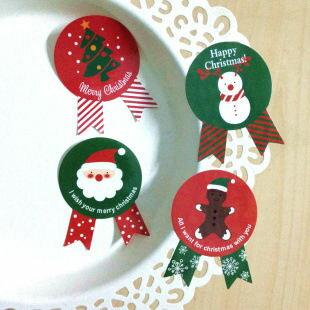 ego:創意聖誕節聖誕禮物包裝貼紙DIY聖誕老人交換禮物聖誕老公公聖誕裝飾聖誕樹