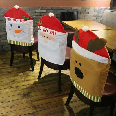 創意 聖誕節 椅套 聖誕老人 椅子套 聖誕裝飾 聖誕佈置 館長推薦