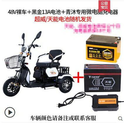電動三輪車家用小型代步車接送孩子成人新款電瓶車電三輪老年  聖誕節狂歡購