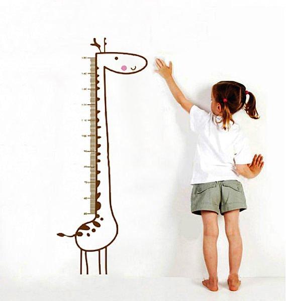 BO雜貨【YP1689】高品質DIY可移動牆貼/身高尺壁貼/兒童壁貼 兒童房設計 長頸鹿身高貼