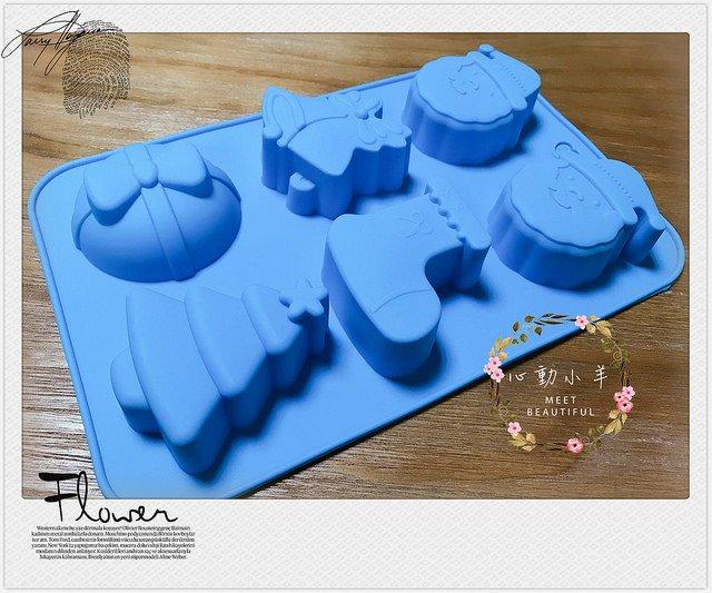 心動小羊^^6連聖誕老公公襪子禮物聖誕樹皂模免切 手工皂DIY材料 手工皂模具 模型 蛋糕模