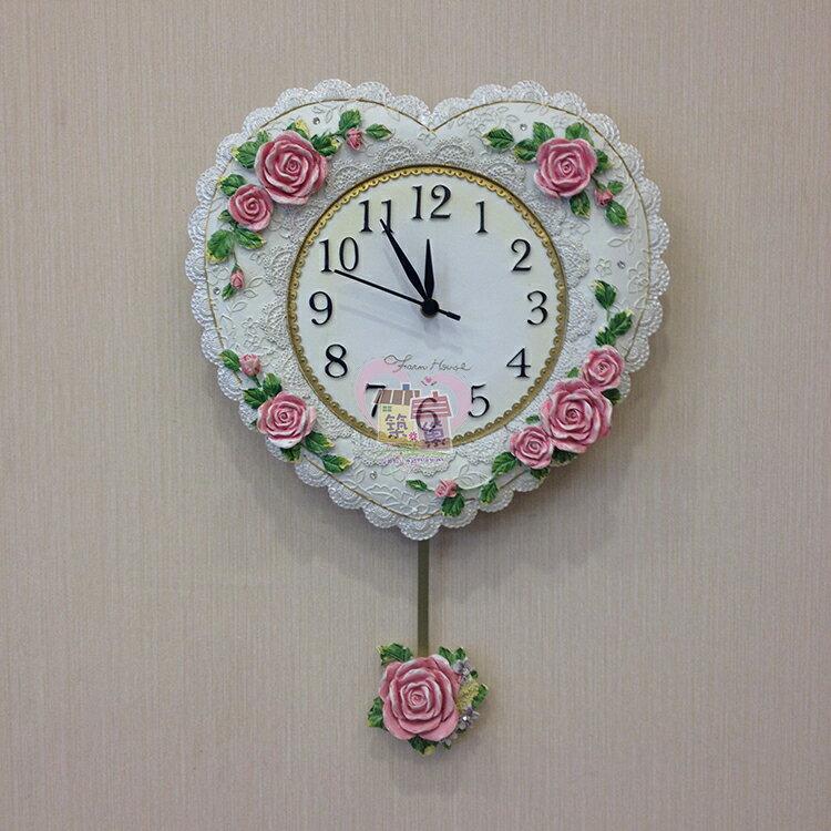純白心型玫瑰搖擺掛鐘, 裝上電池下方玫瑰會搖擺 掃描式靜音機芯