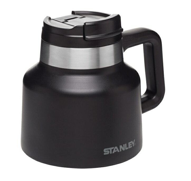 Stanley 冒險真空寬口壺/保溫廣口瓶/不鏽鋼水壺 1002873 20oz/590ml 黑色