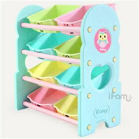 韓國【Ifam】兒童玩具四層收納架(綠色) - 限時優惠好康折扣