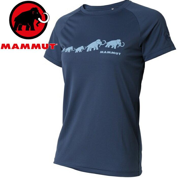 Mammut 長毛象 登山排汗衣/圓領短袖/運動T恤登山健行/路跑野跑 Aegility T-Shirt 亞版女款 1017-10071 50011 冠藍鴉