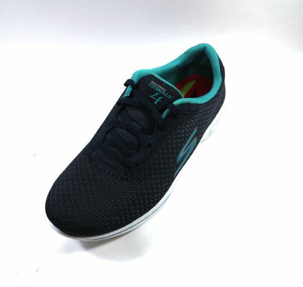 SKECHERS (女) 健走系列 GO Walk 4 寬楦 健走鞋 運動鞋 - 14175WNVTL 藍綠 [陽光樂活]