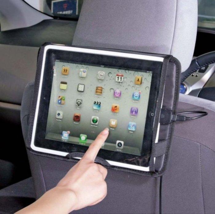 權世界@汽車用品 日本NAPOLEX車用頭枕固定iPad/iPad2/new iPad平板電腦固定車架 Fizz-969