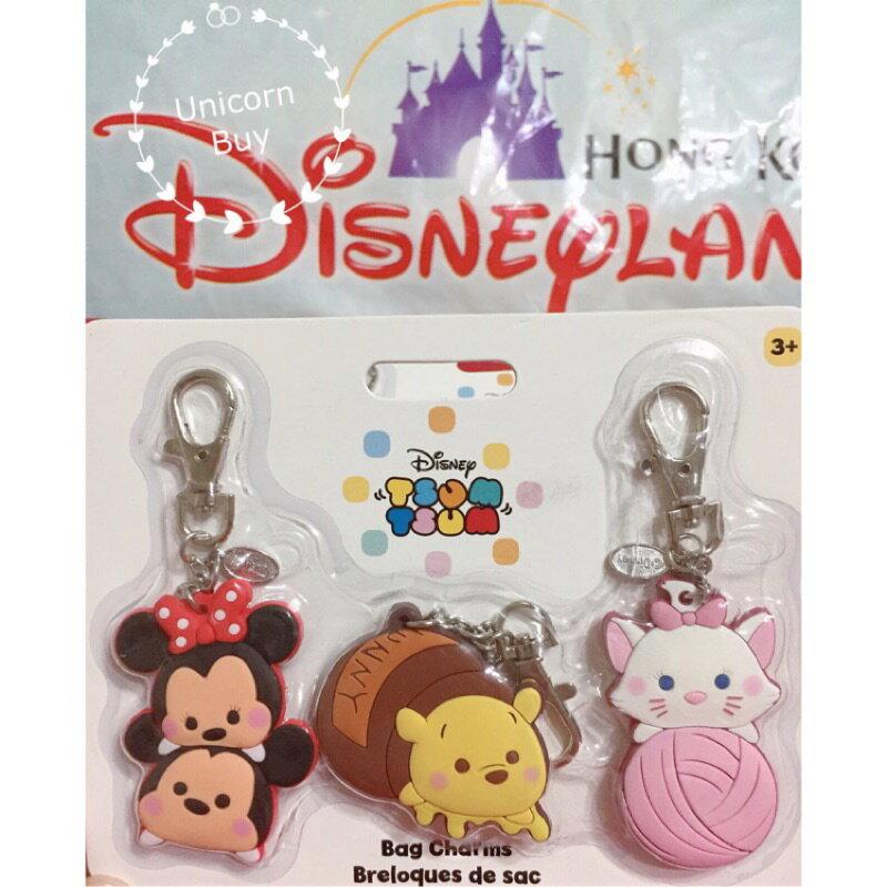 日本 Disney Tsum Tsum 鑰匙圈 3入組 香港迪士尼 Unicorn