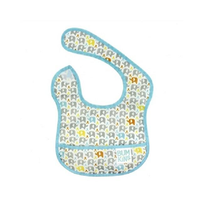 美國【Bumkins】兒童防水圍兜 -大象拼貼 BKS-PC2 (6-24個月) - 限時優惠好康折扣