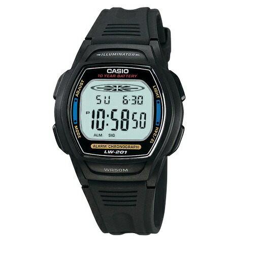 【CASIO兒童手錶】 十年電池 50米防水 兒童錶 學生錶 上班族 台灣CASIO公司貨 LW-201-2A