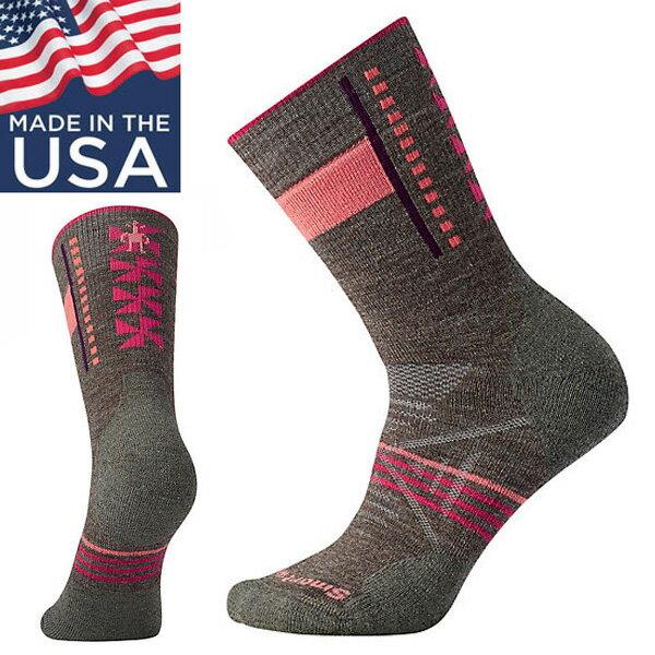 【Smartwool美國】PhDOutdoorMediumCrew厚避震墊中筒襪美麗諾羊毛襪登山襪女款灰褐色/SW000768236