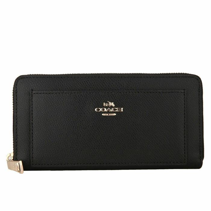 COACH F52648 美國正品質感防刮真皮拉鍊長夾女長款錢包拉鏈手拿包女士皮夾, 0