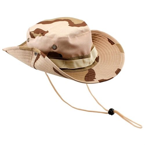 8f98314acbf Fishing Hunting Bucket Hat Boonie Outdoor Cap Washed Cotton Military Safari  Summer Men - Land Camouflage