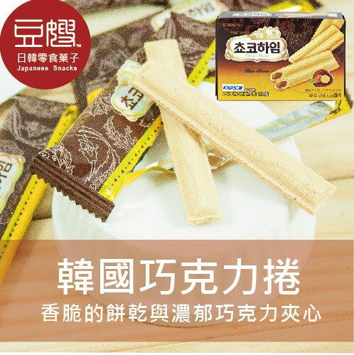 【豆嫂】韓國零食 CROWN 巧克力牛奶捲