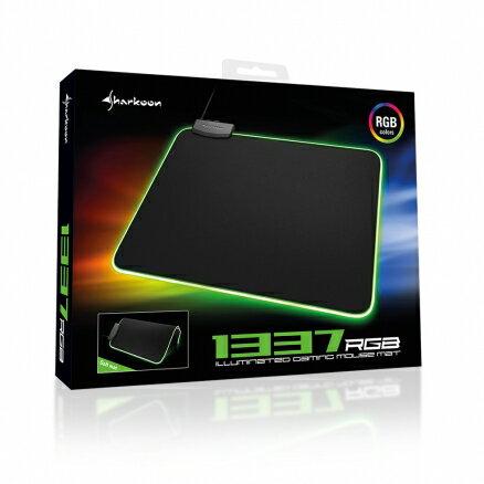 旋剛Sharkoon1337RGB電競滑鼠墊世界首款可捲曲式RGB滑鼠墊【迪特軍】