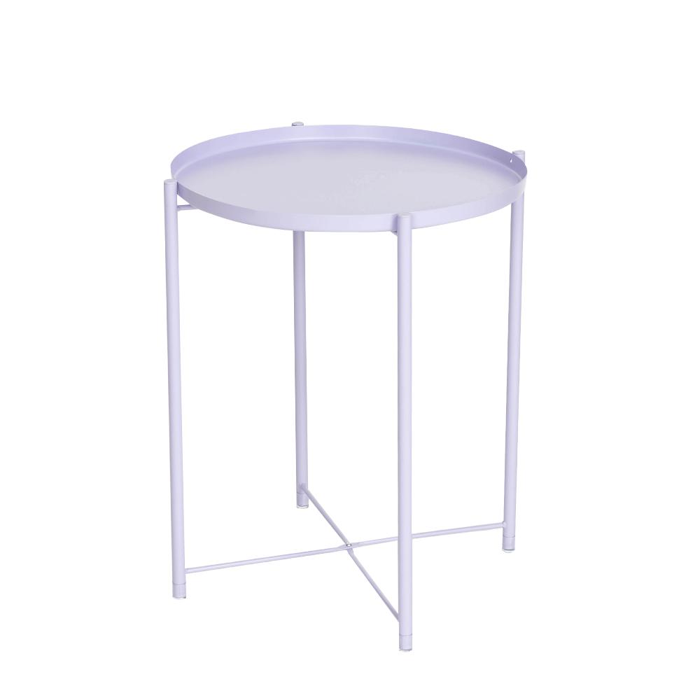 托盤 茶几桌 附腳套 多功能 圓桌 餐桌 床桌 邊桌 咖啡桌 野餐桌 北歐鐵藝風【A014】