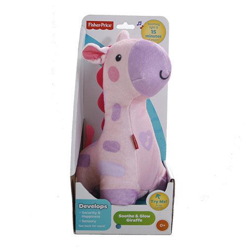 Fisher Price費雪 聲光安撫小長頸鹿 (粉色款) 助眠玩具