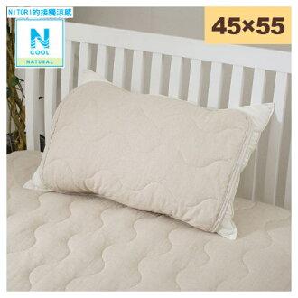 接觸涼感 枕頭保潔墊 45x55 N COOL COTTON LINEN T 17