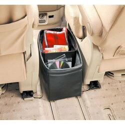 權世界@汽車用品 日本CARMATE 皮質大型收納盒垃圾桶(革調)可調整收納隔間 CZ314