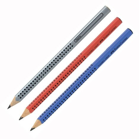 【筆坊】Faber-Castell JUMBO 學齡孩童專用大三角粗芯鉛筆10mm(B)-單支
