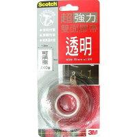 3M,3m膠帶推薦到3M Scotch 19mm透明VHB超強力雙面膠帶(V1905)KN19進階款*可載重440g
