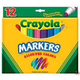 Crayola 12色水性彩色筆(粗線)58-7712
