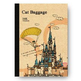 青青文具 貓行李系列 16K定頁筆記(迪士尼城堡款) CN-16110A