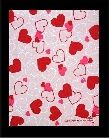 NCL 滿滿愛心百年A4彩內頁粉紅布面自黏黏貼相本相簿 (A4F-181-P)