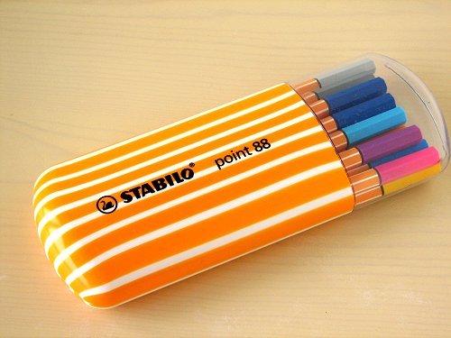 STABILO鵝牌 point 88 款式細字彩色簽字筆 ^(0.4mm^) 橢圓筒裝 8
