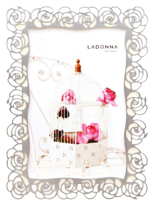 【筆坊】Ladonna Living系列薔薇之心水晶水鑽4x6結婚相框 (RS03-P)