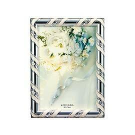 【筆坊】Ladonna Bridal系列 銀色彩緞5x7金屬相框( MJ59-2L-SV)