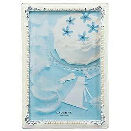 【筆坊】Ladonna Bridal系列 古典珍珠排邊4X6相框 (MJ57-P-WH)