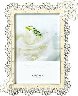 LADONNA Bridal浪漫婚鑽系列 百變花卉4X6相框(MJ72-P-WH)