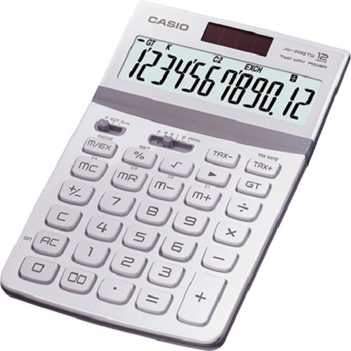 【筆坊】CASIO 卡西歐12位元閃耀金屬光桌上型計算機/共七色/JW-200TW