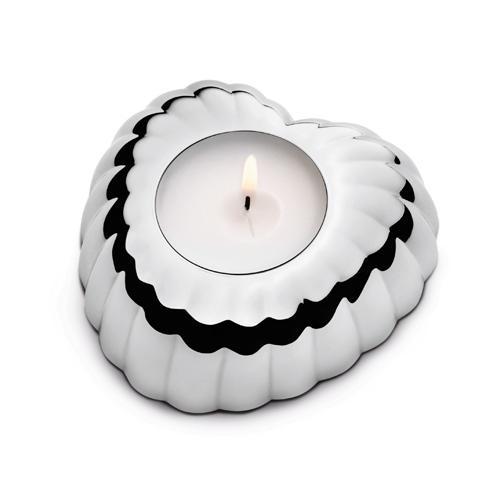 丹麥 Georg Jensen Legacy 系列 Heart Tea-light Holder 心型燭台 單件式