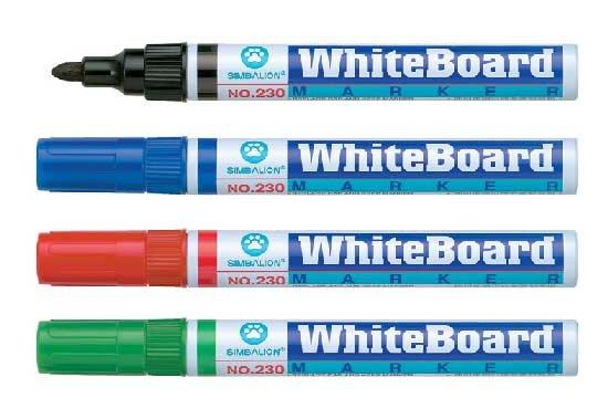 雄獅 230 鋁桿白板筆一盒 / 12支入