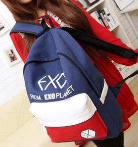後背包 韓版時尚【EXO撞色後背包】 時尚玩包