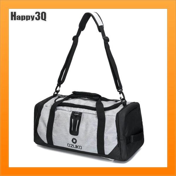 大容量休閒牛津布包單肩手提斜挎包旅行包旅遊行李包-黑灰藍綠【AAA5158】