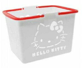 現貨 日本帶回 三麗鷗 HELLO KITTY白色小朋友玩具提籃 迷你菜籃 日本製