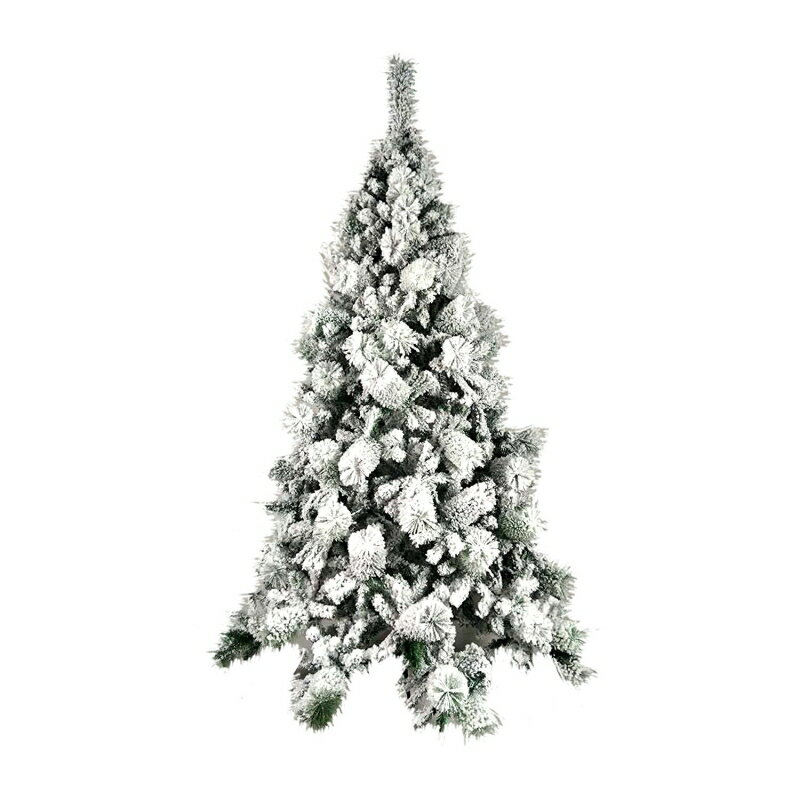 new products 8aba4 0973c ALEKO CT70H663 Snow Dusted 6 Foot Artificial Holiday Christmas Tree with  Green Metal Stand