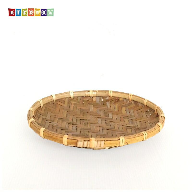DecoBox日曬用薄竹盤(23公分-5個)(竹編織盤.乾阿.湯圓篩.洗菜籃.黑蒜頭.竹篩)