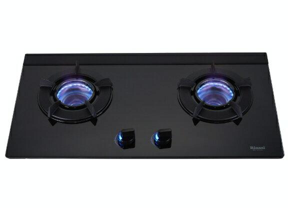 林內牌 雙口內焰式玻璃檯面爐 RB-N212GB